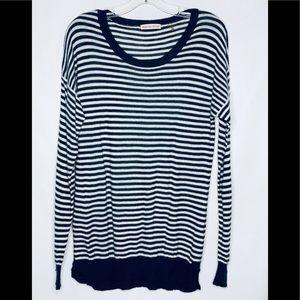 Rebecca Taylor Striped Crewneck Sweater